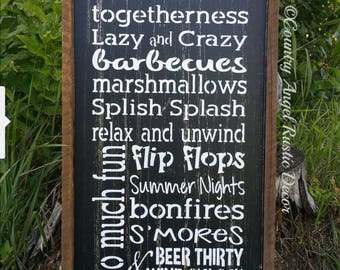 Cabin Sign. At the Cabin we do.handpainted wood sign, Cabin Rules sign, Lake sign, Lakehouse sign,Typography/Subway Sign, Rustic cabin decor
