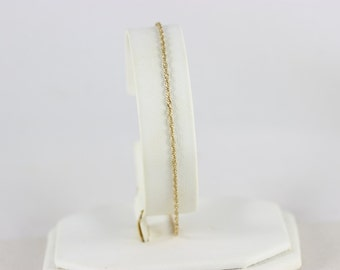 10k Yellow Gold Chain Anklet
