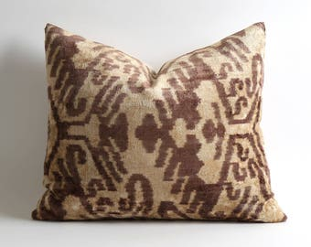 velvet pillow, velvet, ikat pillow, decorative pillow, ikat, silk, ikat pillows, throw pillow, velvet ikat pillow, silk pillow, pillow