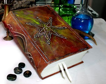 Fairy Star 800 page Blank Book of Shadows 6x9 Grimoire
