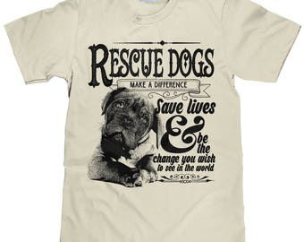 Support Dave Edwards Fundraiser Shirt - Unisex Animal Rescue TShirt - Rescue Dogs Save Lives Cotton Tee - Item 1987