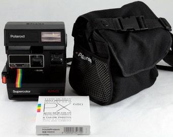 Vintage Polaroid Onestep Sx 70 White Rainbow Stripe Instant