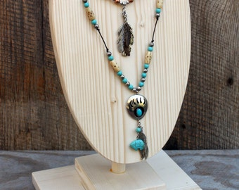 "Necklace display, 10"" x 7"" wood display availble in colors"