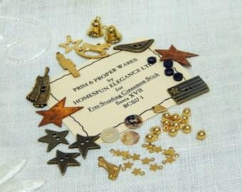 Homespun Elegance -  Prim & Proper Wares -  Free Standing Cinnamon Stick Santa XVII - Embellishment Pack - RSC17-1
