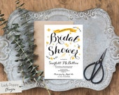 Bridal Shower Invitation, Floral Bridal Shower Invite, Charm Floral Shower Invitation, Printable PDF // SCARLETT