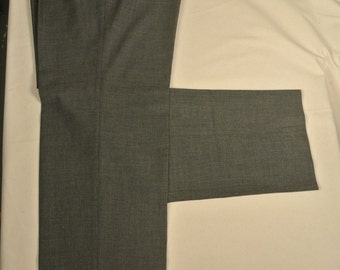 Corbin Gray 100% Worsted Wool Dress Pleat Trousers Men's Size: 38x36