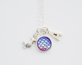 Mermaid Necklace, Mermaid Scale Necklace, Mermaid Jewelry, Silver Mermaid Necklace, Mermaid Gift, Gifts for Girls, Mermaids, Mermaid present