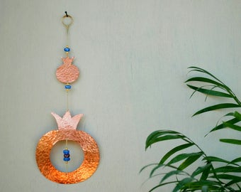 Pomegranate Decor Passover Gift - Judaica Art Home Blessing - Judaica Home Decor - Jewish Gift