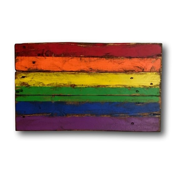 Wood Pride Flag Gay Pride Flag Lgbt Flag Pallet Pride Flag