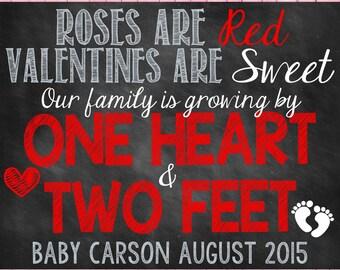 Valentine's Day Pregnancy Announcement Valentine's Day Pregnancy Reveal