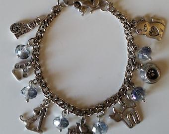 Silver Kitty Charm Bracelet