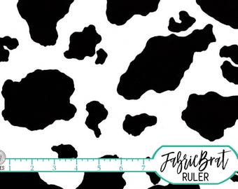 BLACK & WHITE COW Fabric by the Yard, Fat Quarter Cow Skin Fabric Cow Spot Fabric Quilting Fabric 100% Cotton Fabric Apparel Fabric w1-29