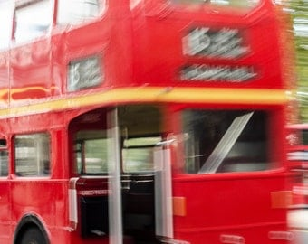 Red Routemaster Bus, London - Colour Photographic Print