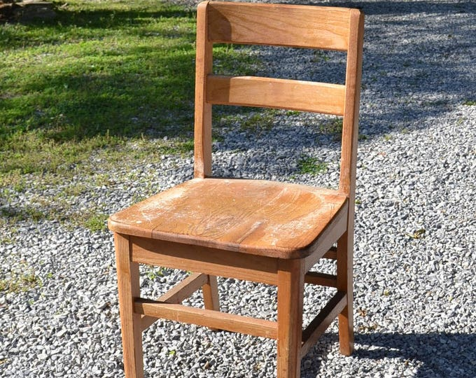 Vintage Wooden School Chair Adult Size Old School Furniture No 3 PanchosPorch