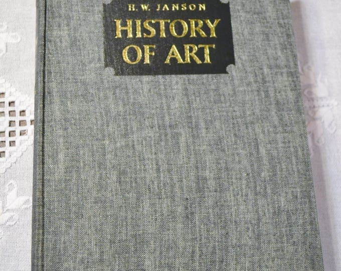 Art of History H W Janson Hardcover Vintage Book 1969 Color and Black White Illustrations Photos Coffee Table Book PanchosPorch