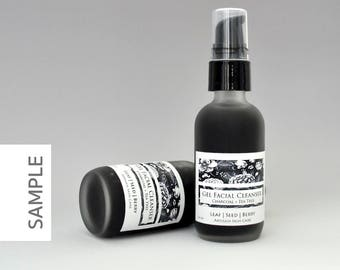 Charcoal Acne Face Wash with Tea Tree, Facial Cleanser, Acne Cleanser, Charcoal Cleanser, Acne Wash, Acne Treatment, Vegan Cleanser, Skin
