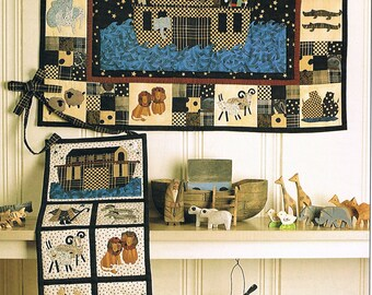 QUILT PATTERN - Noah's Ark Wall Hanging Quilt Sewing Pattern - Baby Quilt Pattern - Modern Quilt Pattern - Applique Quilt - Not a PDF