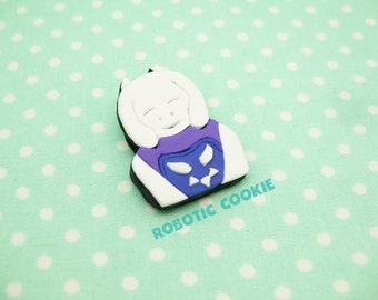 Toriel inspired Undertale Brooch Pin polymer clay