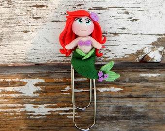 The accessory,(the little mermaid) Mermaid bookmark, handmade book, gift