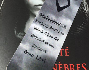 Shadowhunters Better in Black quote - Shadowhunters, Mortal Instruments by Cassandra Clare bookmark