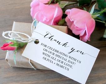Thank You Tags - Favor Tags - Wedding Thank You Tag - Editable Tag - Bridal Shower Favor Tag - Wedding Favor Tag - DIY Editable Tag