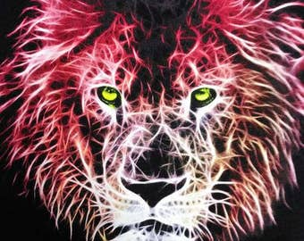 Electric Lion Head T-shirt 50% OFF NOW ONLY 10.00