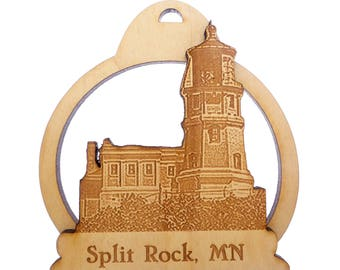 Split Rock Lighthouse Ornament- Lake Superior - Two Harbors Minnesota - Minnesota Gifts