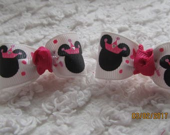 PRINCESS Minnie head Dog Hair Bows Can Mix and match with any of my bows, Minnie Head  dog bows, bows