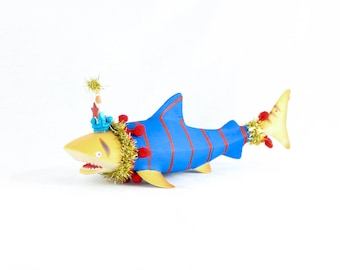 "Jumbo Party Animal ""Tim"" The Shark- Cake Topper and Birthday Decor"
