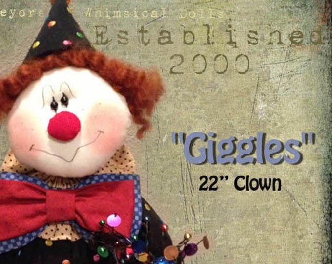 """Featured listing image: Doll KIT: Giggles - 22"""" Clown"""