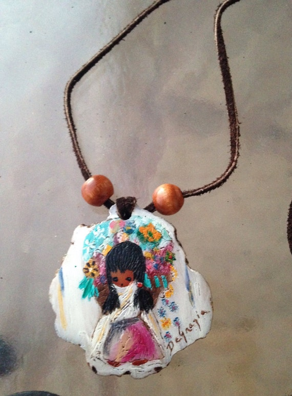 Ted Degrazia Pendant Degrazia Flower Girl Flower Girl