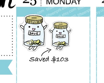 Save Up stickers -J635-L010