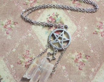 Witchy Pentacle/Pentagram Angel Aura Necklace (version 1)