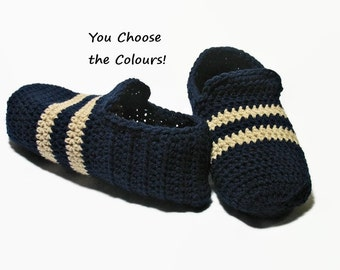 Mens Slippers, Fathers Day, Mens House Slippers, Sports Team, Teen Boy Slippers, Gift for Dad, Gift for Men, Gift for Him, Crochet