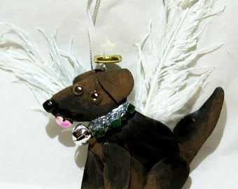 Handpainted Personalized Christmas Dog Ornaments