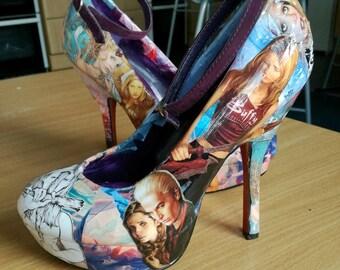 Custom Buffy the Vampire Slayer heels!