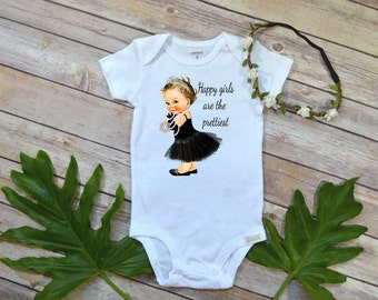Breakfast at Tiffany's, Happy Girls are the Prettiest, Baby Shower Gift, Tiffany's Baby Gift, Breakfast at Tiffany's Bodysuit, Tiffany's Set