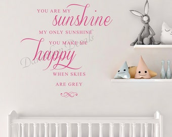 Sunshine Decal Etsy - Wall decals you are my sunshine