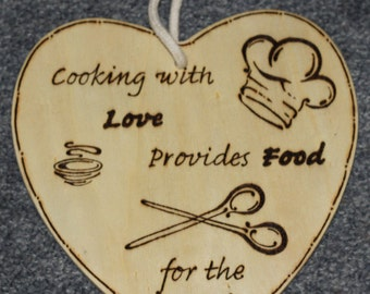Cooking with Love Provides Food for the Soul Sign