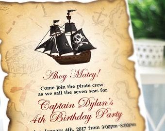 Kids' Pirate Birthday Party Invitation - PRINTABLE
