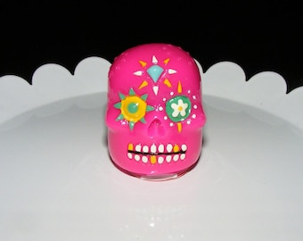 Hot Pink Sugar Skull Berry Flavored Lip Gloss