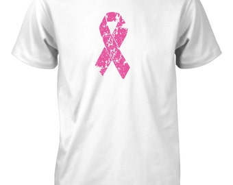 AproJes Breast Cancer Awareness Pink Ribbon T-Shirt for Men