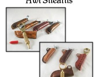 Sewing Awl and Swivel Knife Sheaths patterns - PDF pattern - leathercraft - PDF pattern ONLY