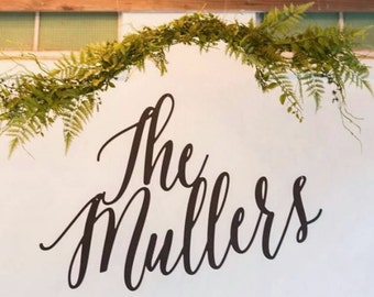 Large Custom Name - Mr & Mrs Wedding Sign