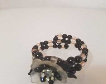 FREE  SHIPPING  Art deco Glass Bracelet