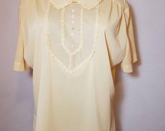 FREE  SHIPPING  1950 Nylon lace  blouse