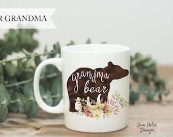 Grandma Bear Mug   11 oz or 15 oz   Pregnancy Reveal to Parents   New Grandma   Grandmother   First Grandchild    Pregnancy Announcement
