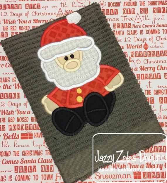 Santa Doll Applique Embroidery Design - Santa applique design - Christmas applique design