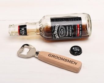 Personalised Bottle Opener, Great Groomsmen Gifts. Bridal Party Gifts