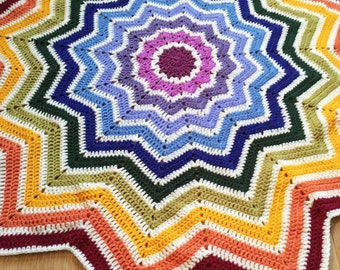 Crochet Star Blanket Etsy